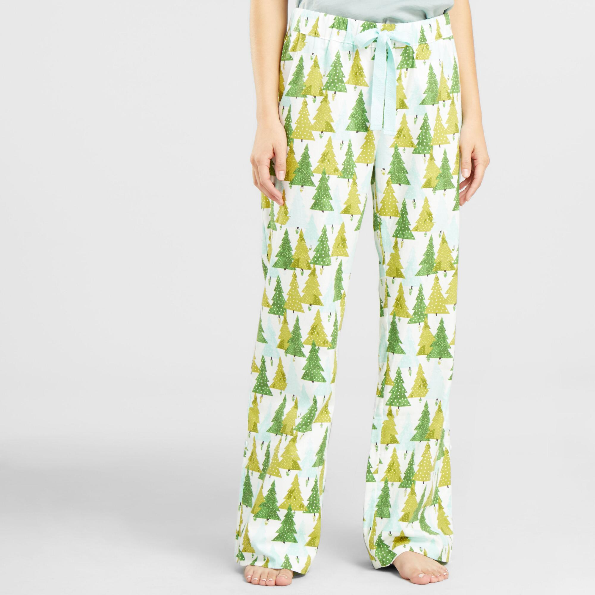 geo trees pajama pants