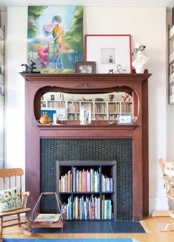 Design Mom Book Fireplace