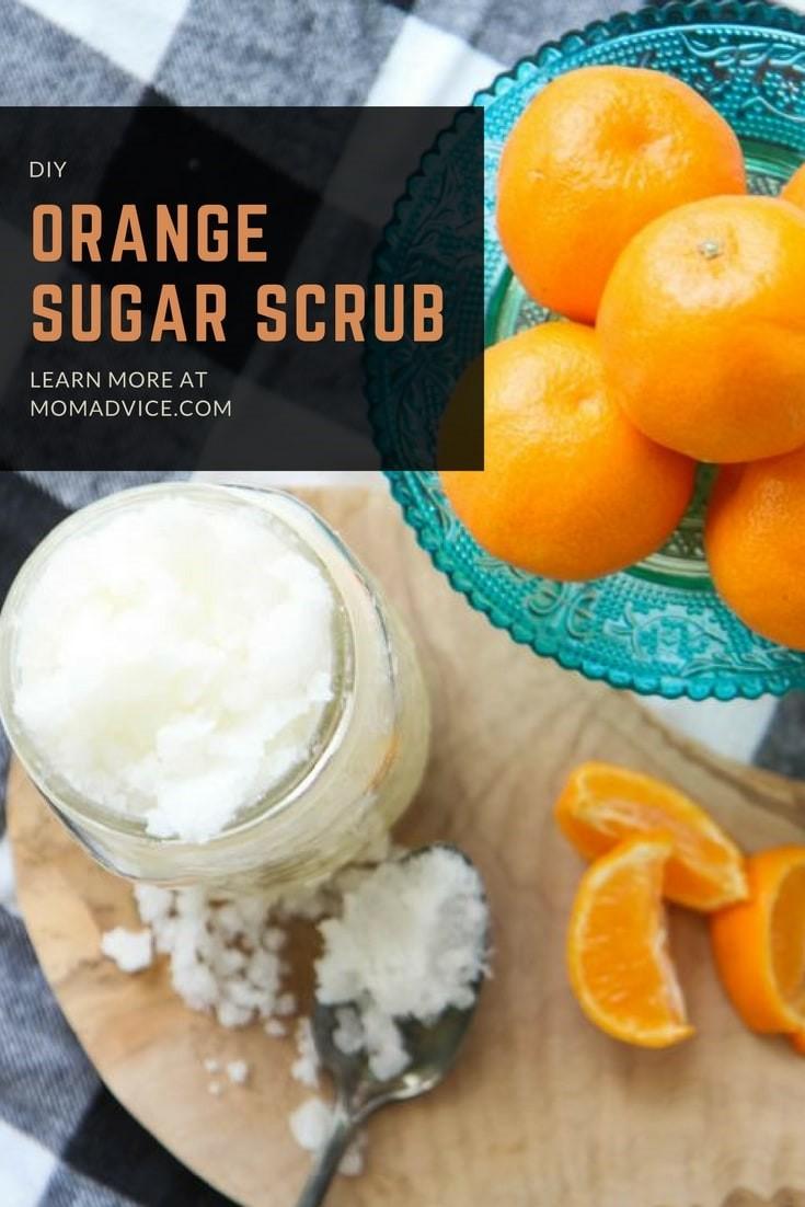 DIY Orange Sugar Scrub from MomAdvice.com