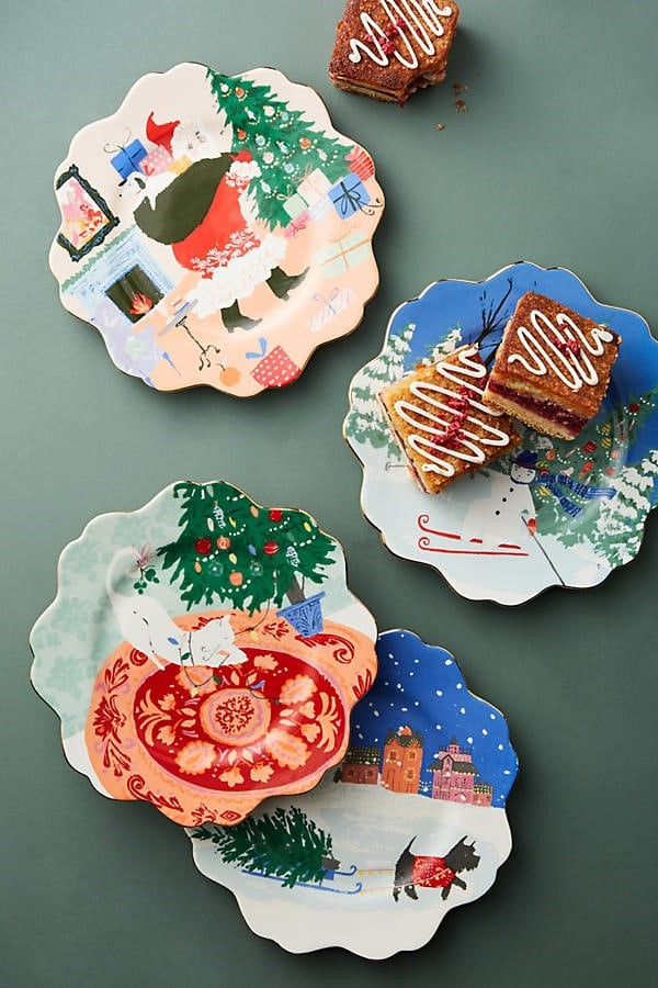 holiday dessert plates
