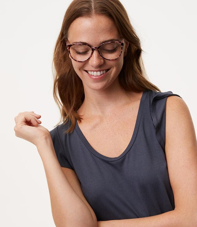 spotted cat eye reading glasses