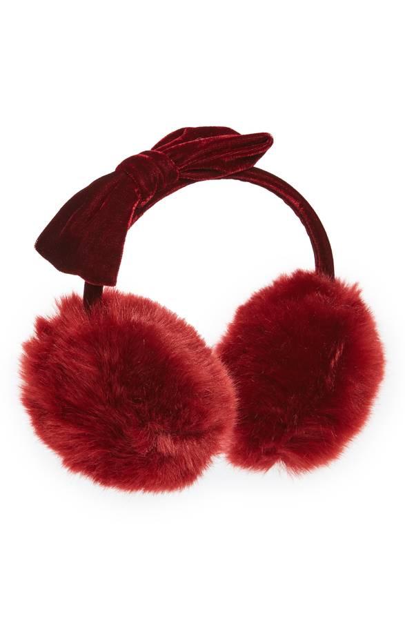 velvet bow earmuffs