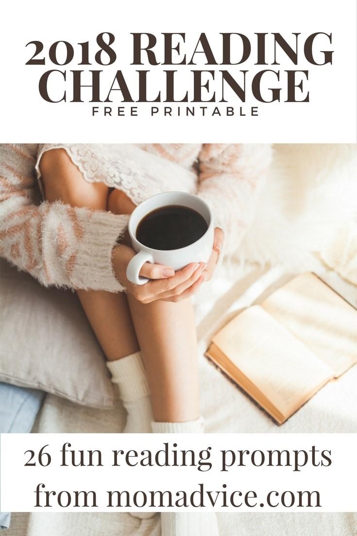 2018 MomAdvice Reading Challenge Printable