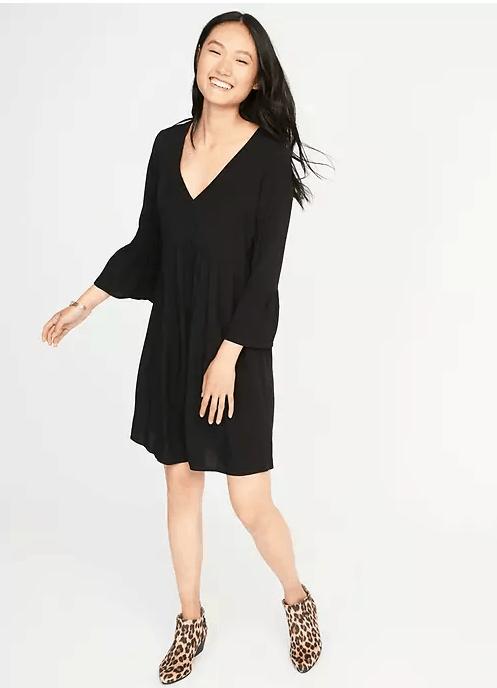 bell sleeve empire waist dress