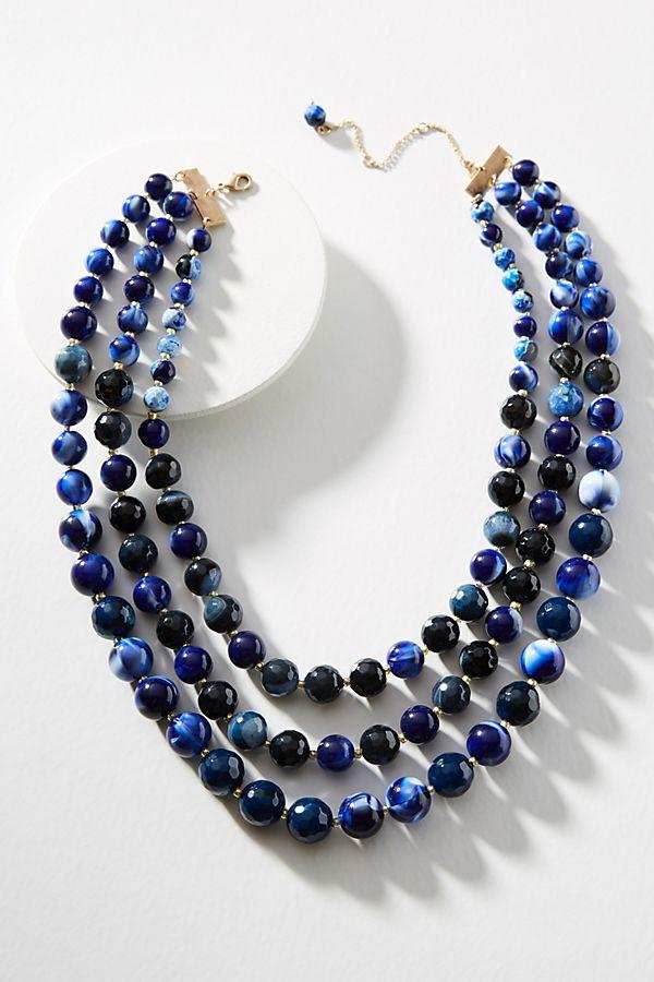 blue hued necklace