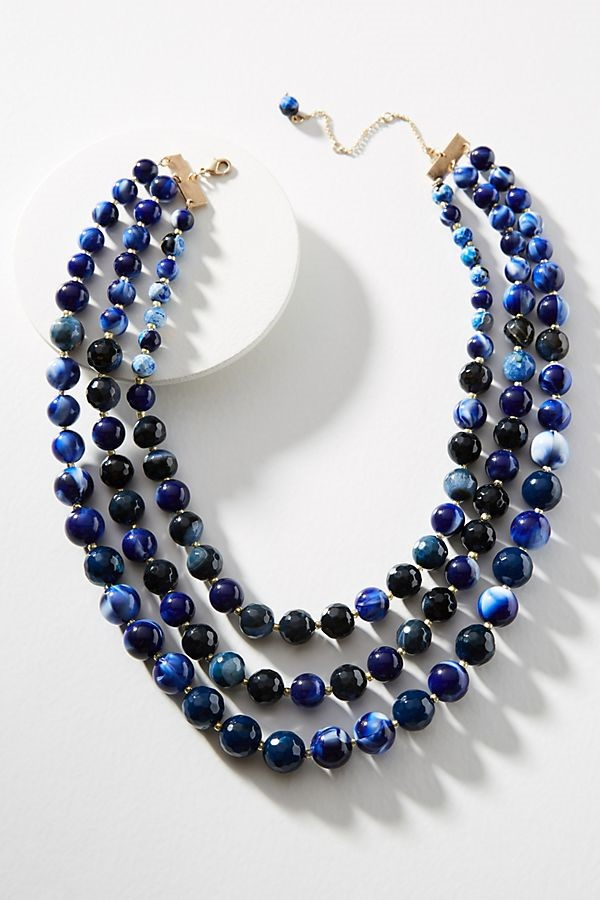 blue hued necklace
