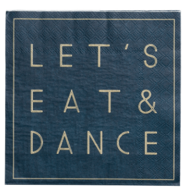 eat and dance napkins