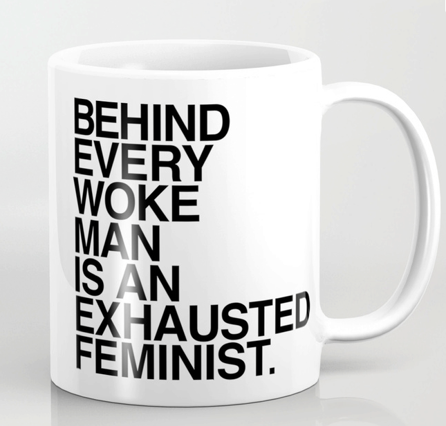 exhausted feminist mug