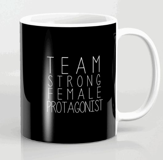 female protagonist mug