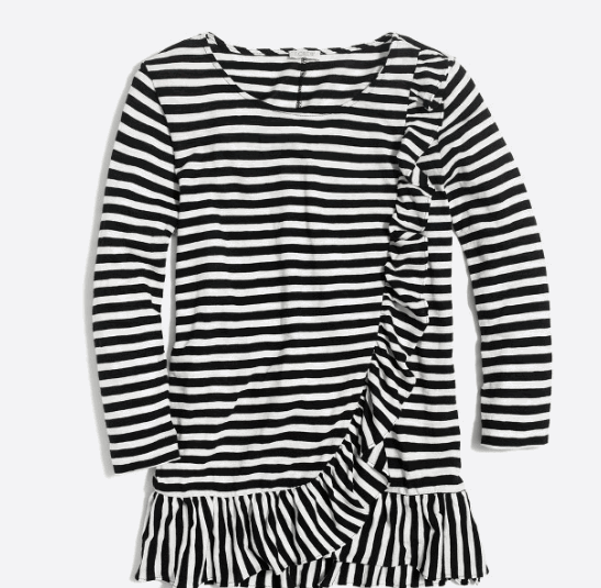 ruffled stripes top