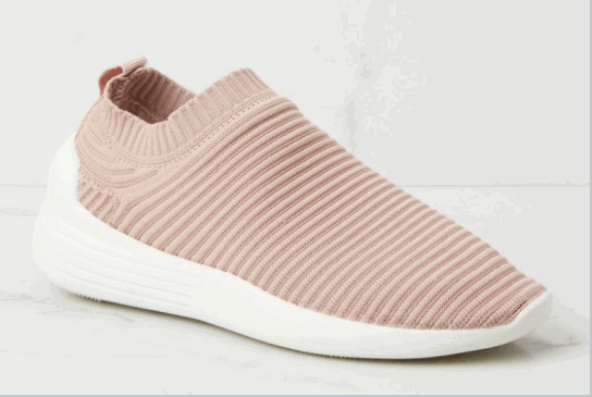 rose slip on sneakers