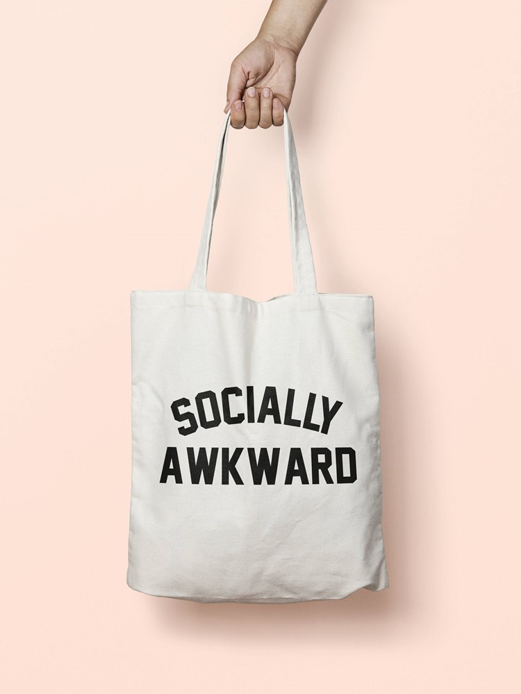 socially awkward book bag