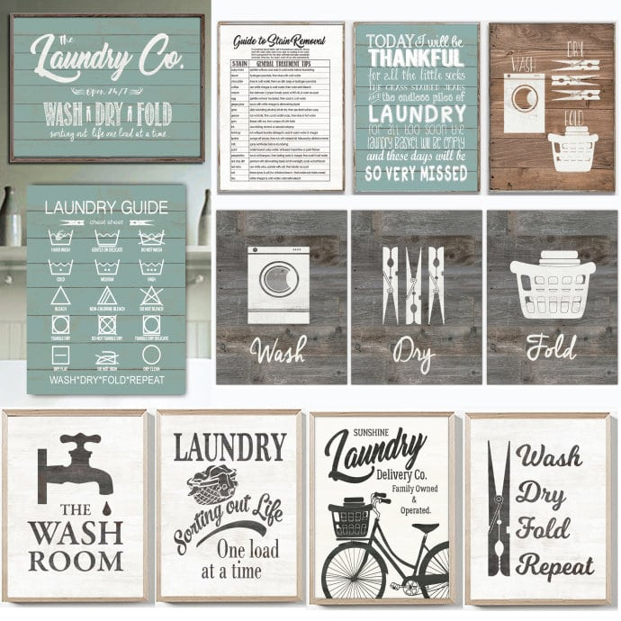 vintage laundry signs