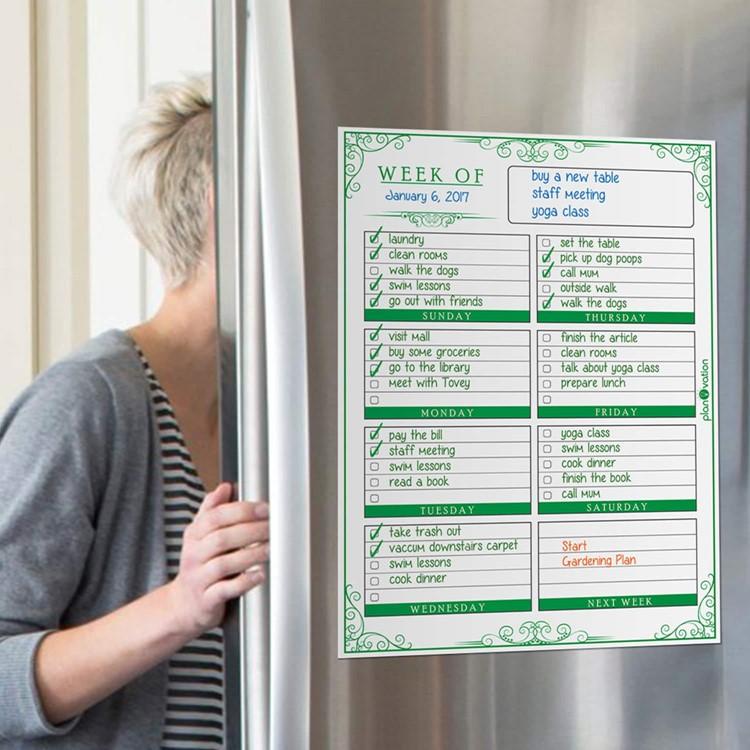weekly refrigerator organizer