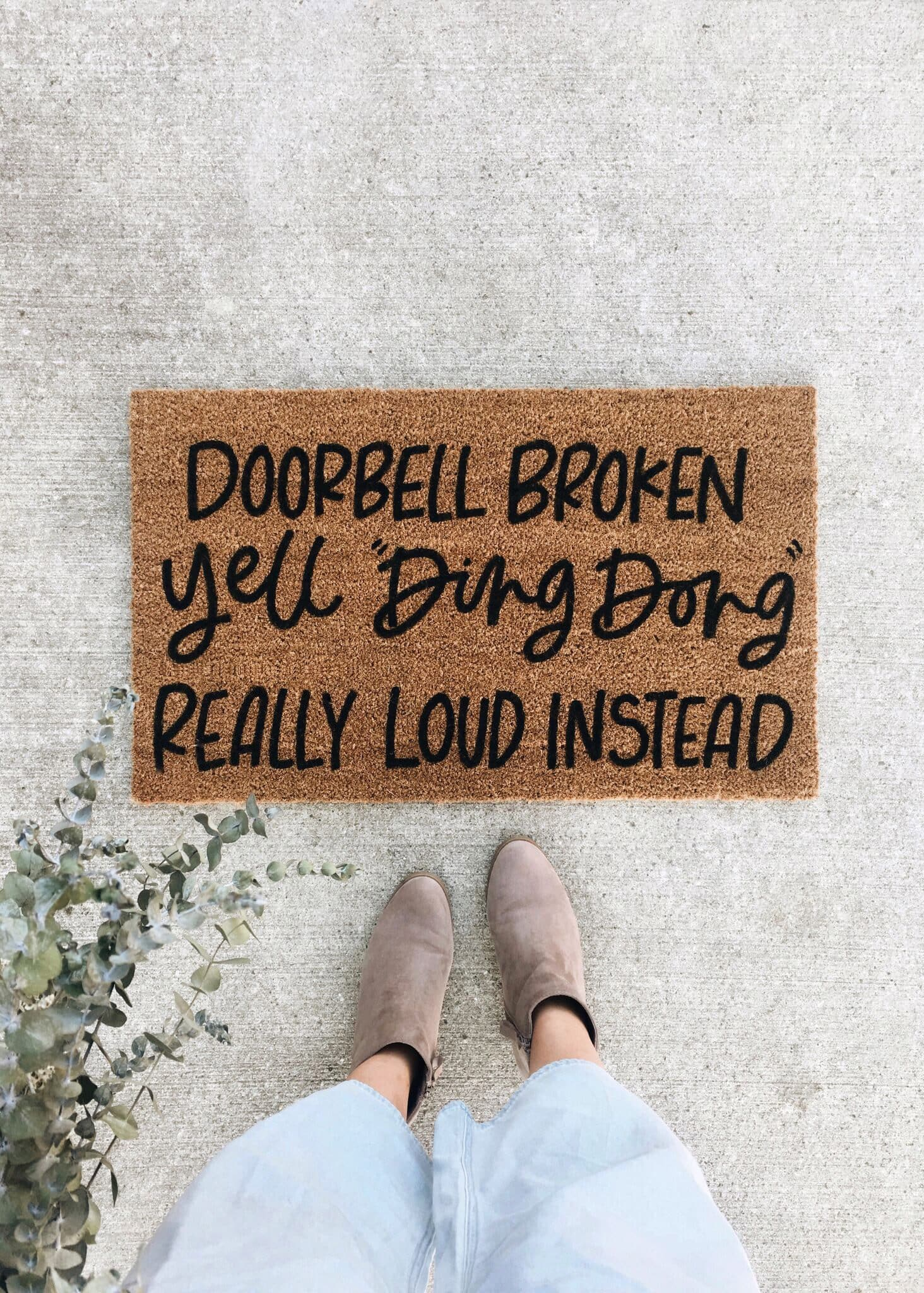 yell ding-dong doormat
