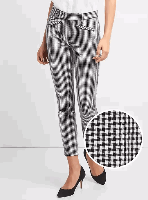 gingham skinny pants