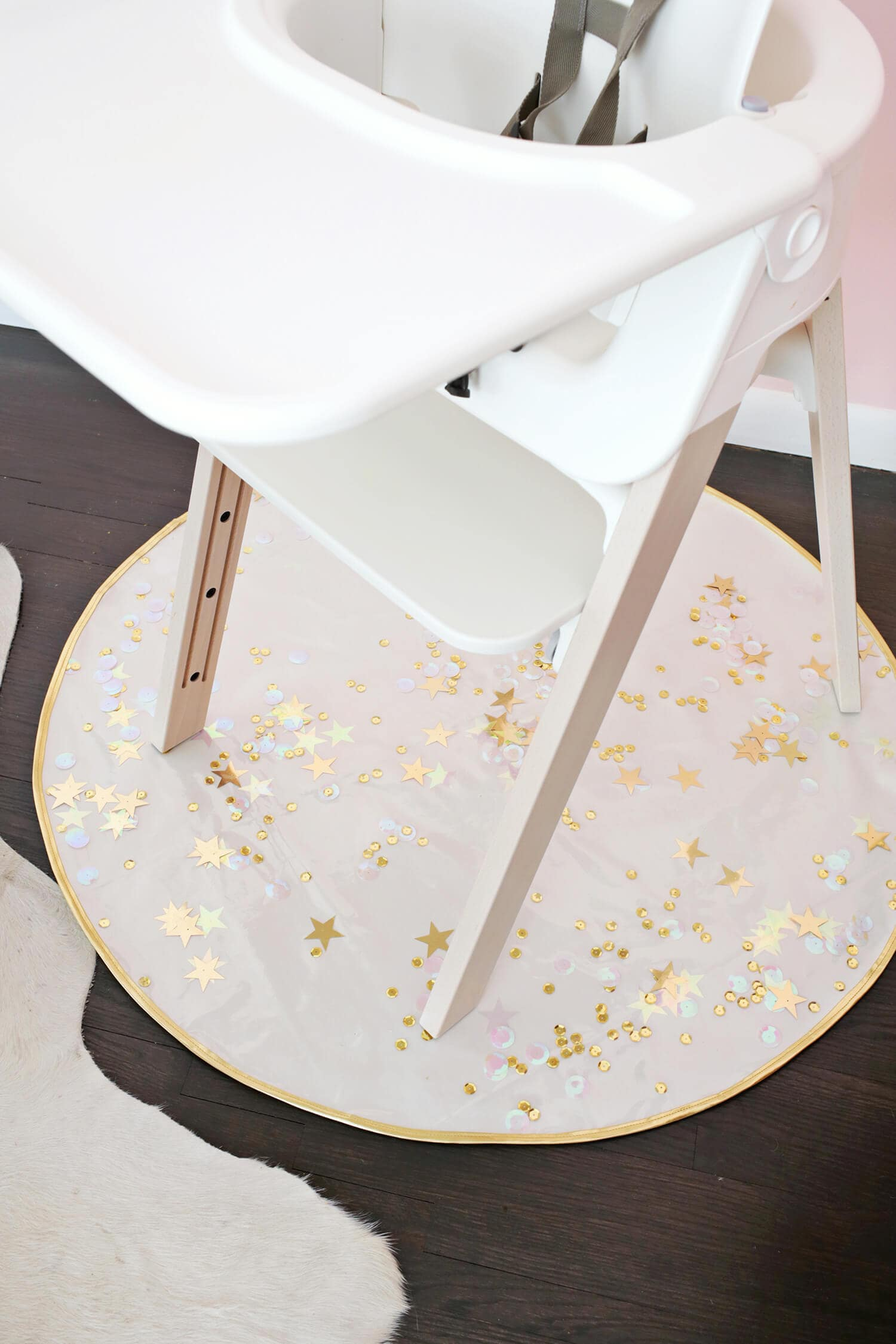 diy high chair mat