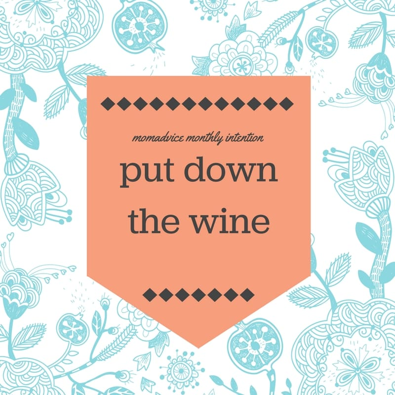 put down the wine challenge from momadvice.com