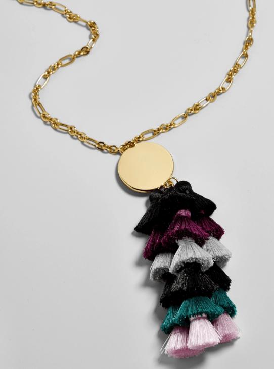 rima tassel necklace