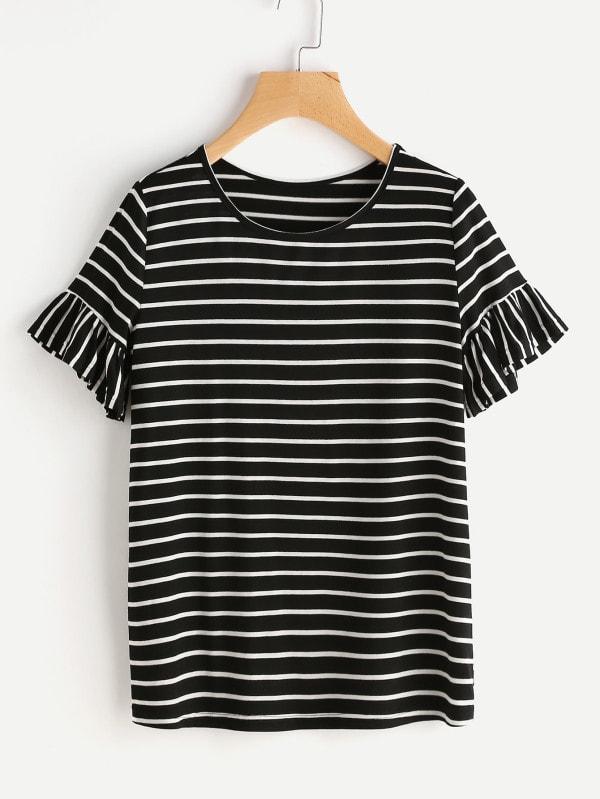 ruffled stripes