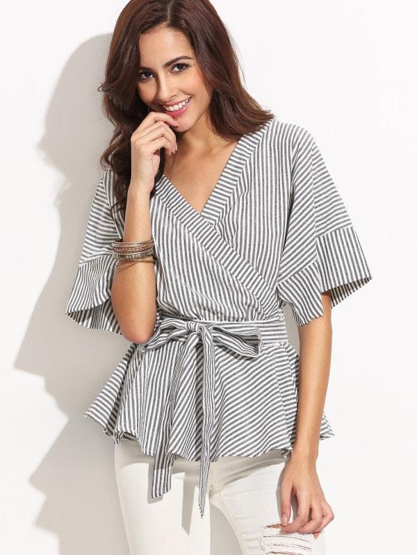wrapped peplum blouse