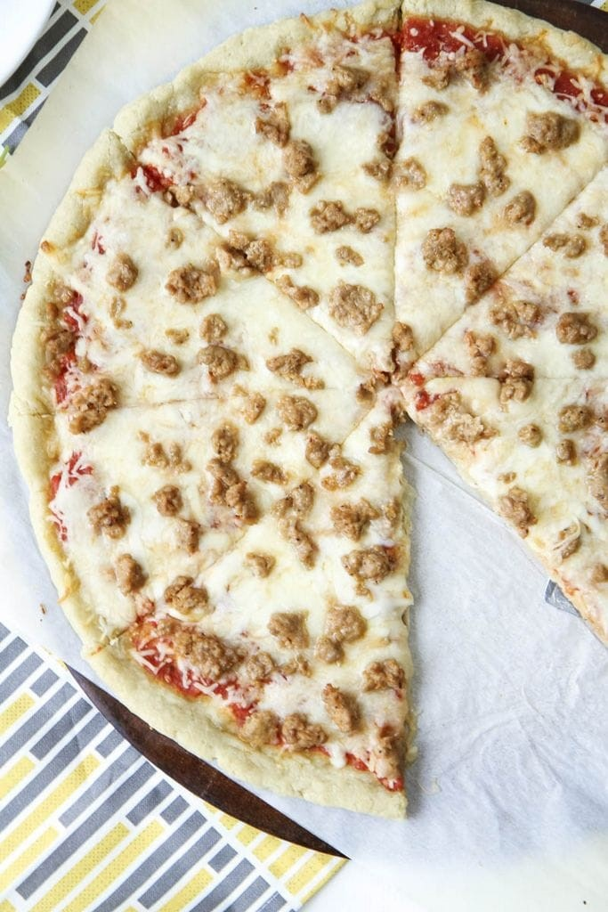5-ingredient gluten-free pizza crust recipe from MomAdvice.com