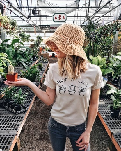 adopted a plant shirt