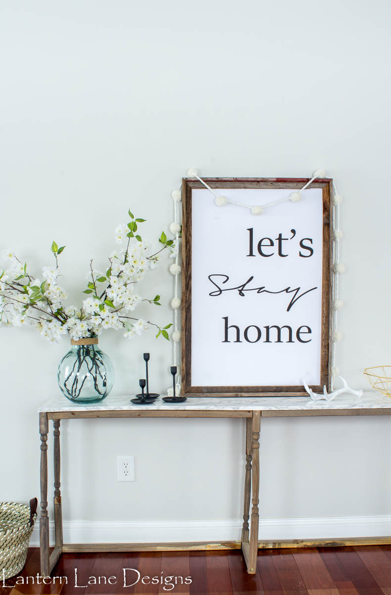 lets stay home printable