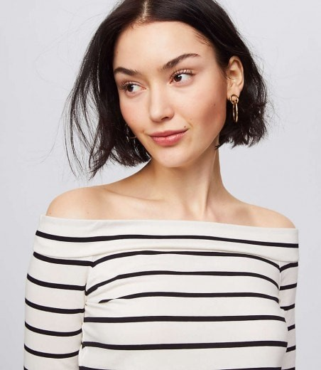 off the shoulder stripes