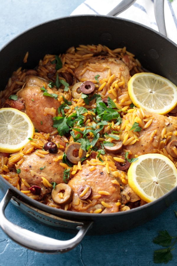 One Pan Moroccan Lemon Chicken