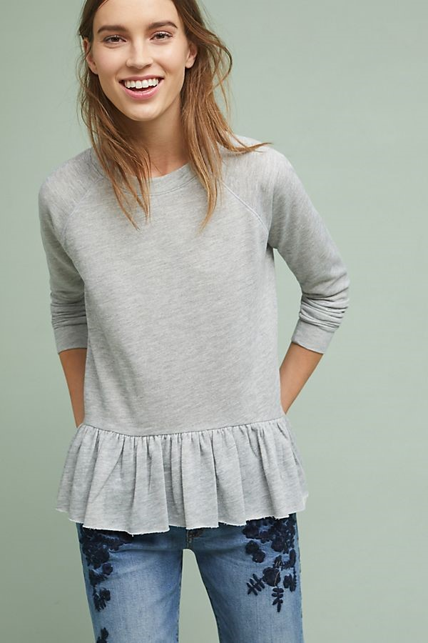 peplum sweatshirt