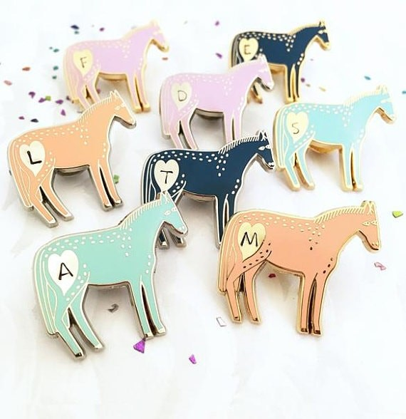 pony pin badges