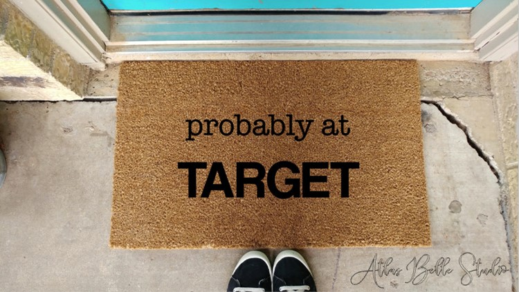 probably at target welcome mat