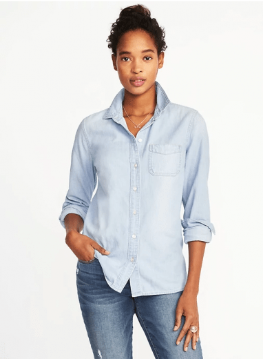relaxed chambray shirt