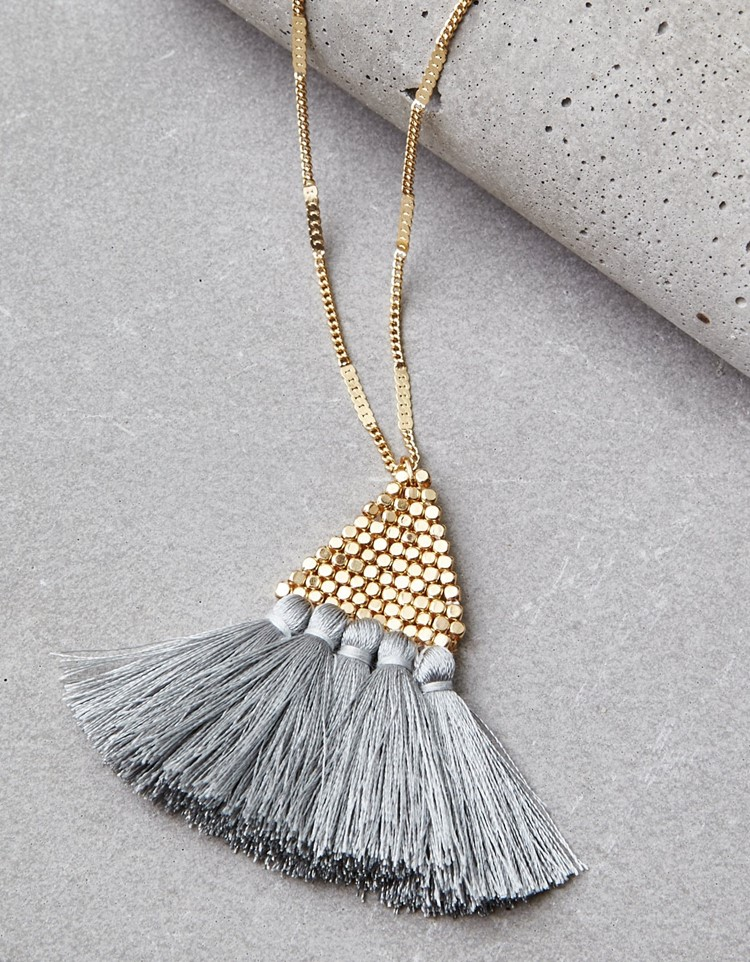 tassel pyramid necklace
