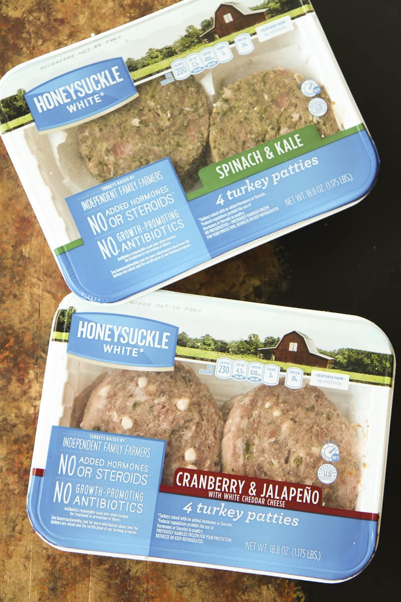 Honeysuckle White Turkey Burger Flavors