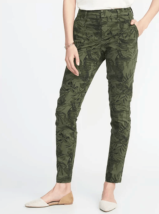 olive leaf utility pant