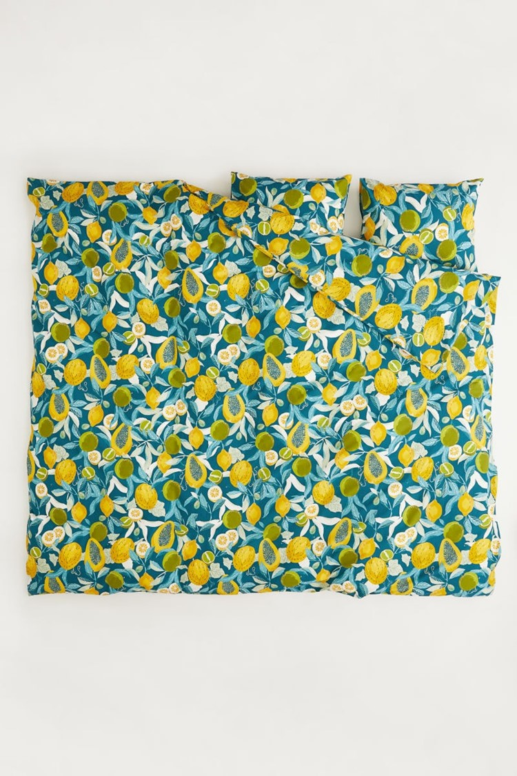 patterned duvet cover