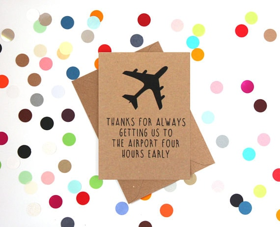 airport father's day card