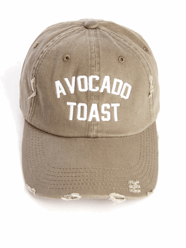 avocado toast cap
