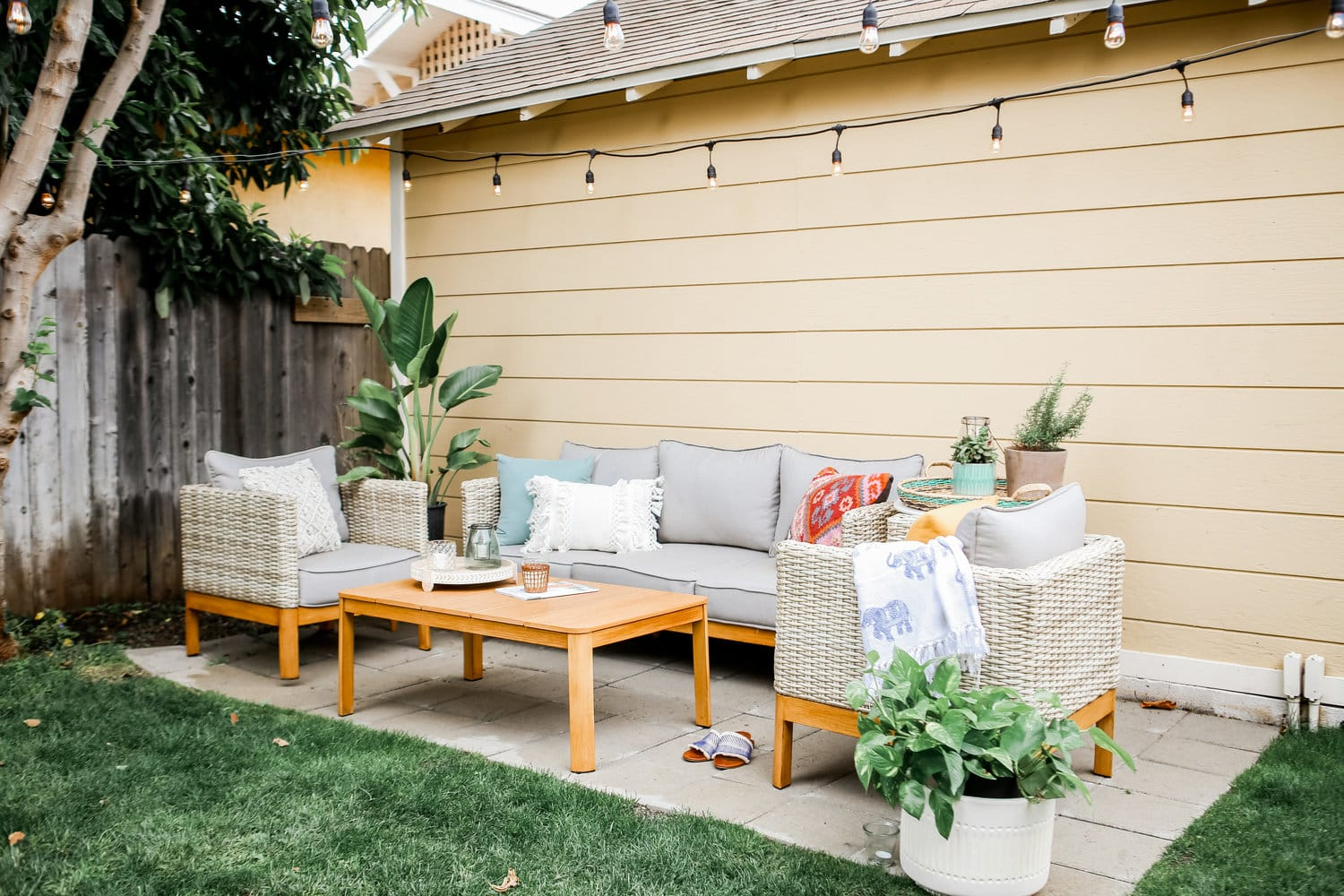 budget-friendly patio