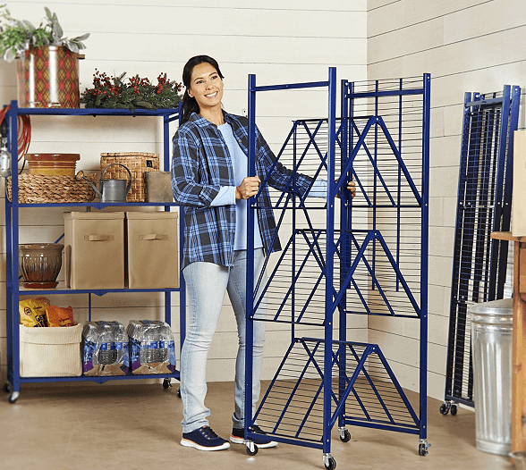 collapsible shelving