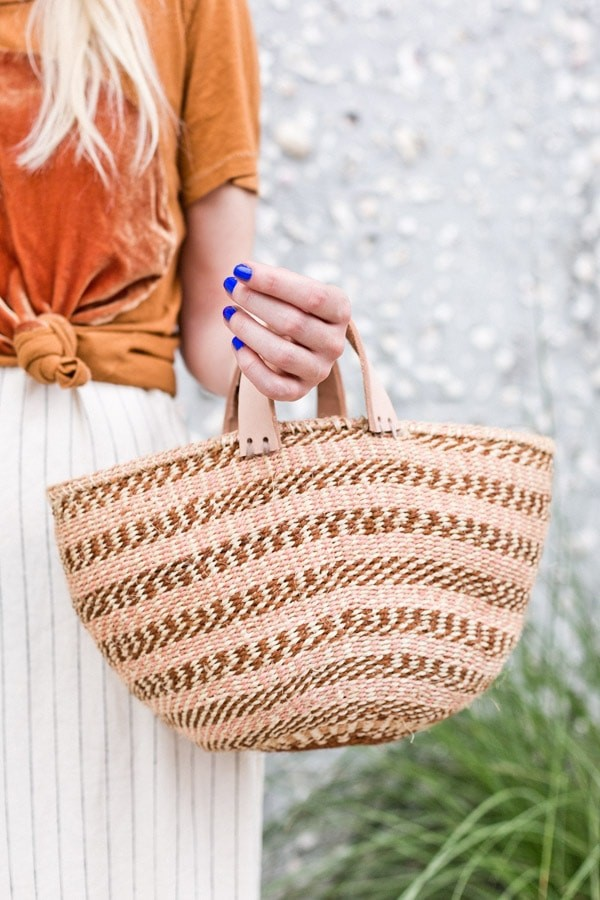 diy basket bag