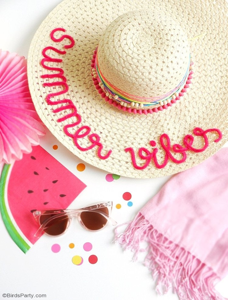 DIY Custom Summer Hat