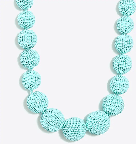 beaded orb necklace