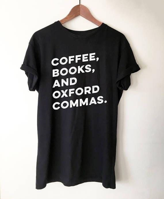 oxford commas tee