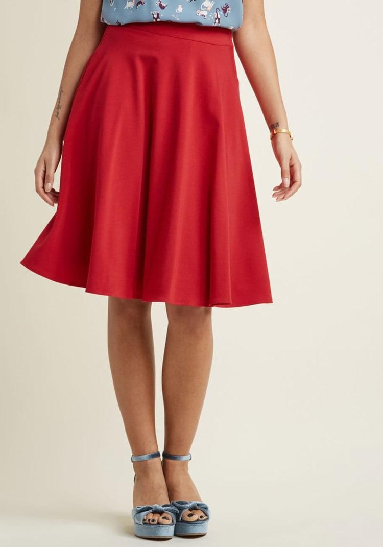 sway midi skirt