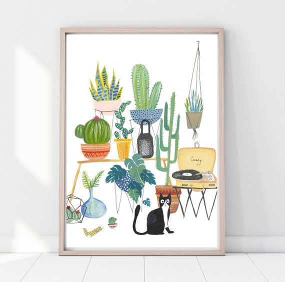 cat jungle print