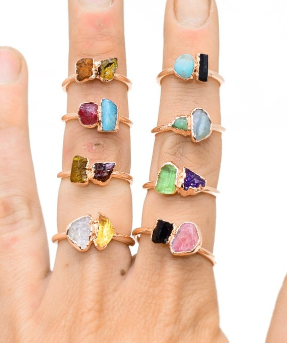personalized birthstone rings