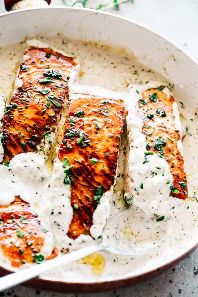 Creamy Garlic Herb Salmon